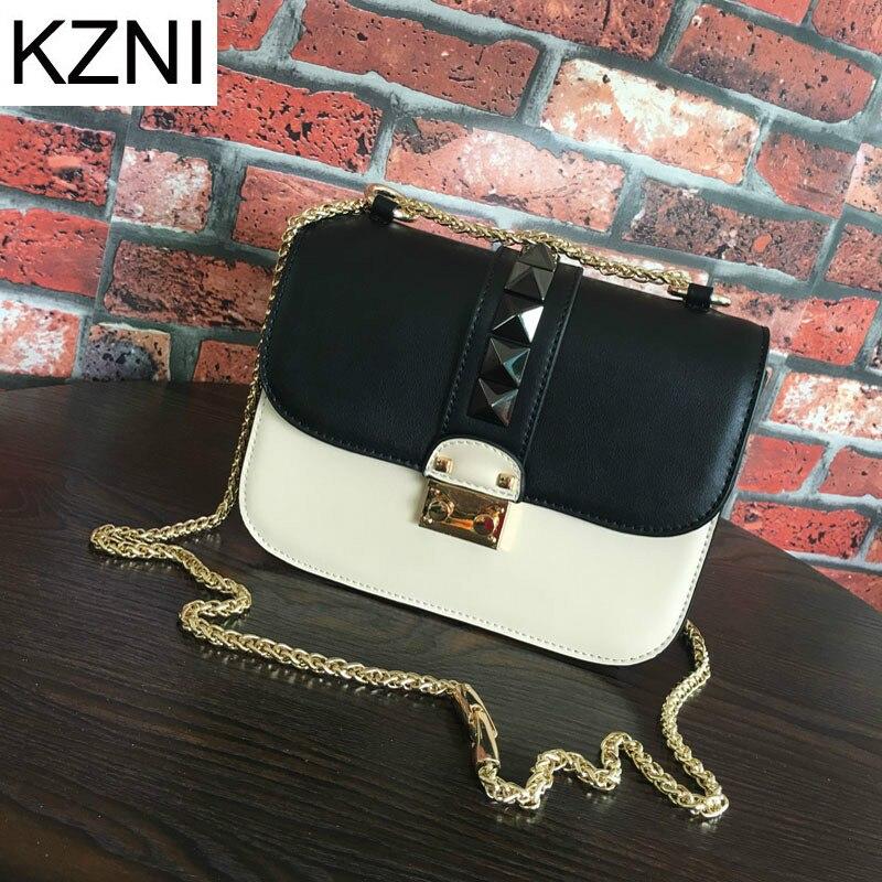 KZNI woman bags 2017 bag handbag fashion handbags crossbody bags for women bolsas femininas bolsas de marcas famosas L010340