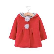 Autumn jacket girls coat winter kids Parkas casual hooded girls rabbit ears jacket 1-4t toddler boy winter coat недорого
