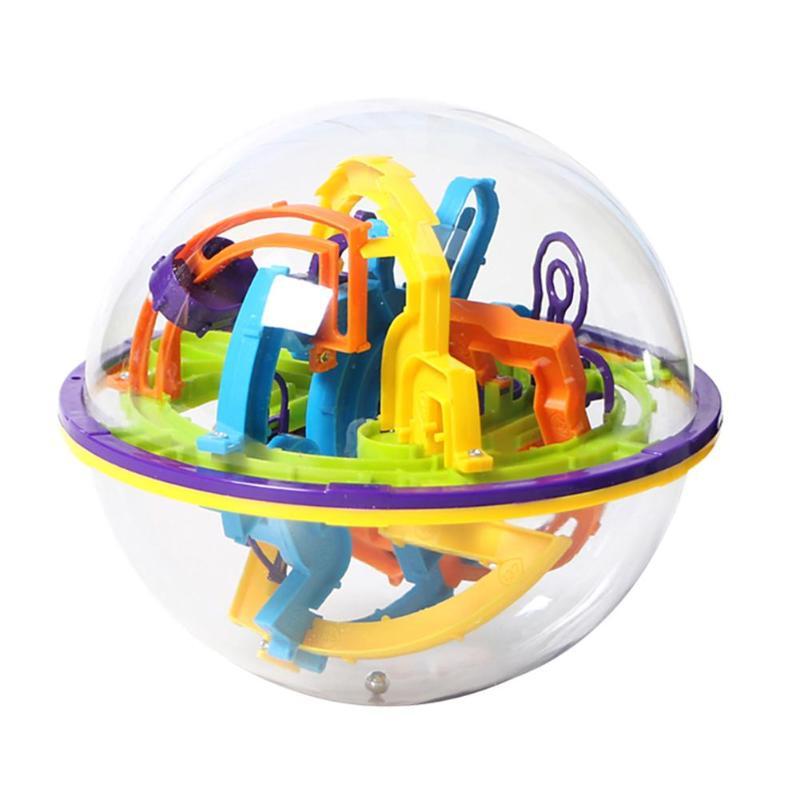 3D sphérique labyrinthe magique Puzzle Intellect balle Balance enfants jouet éducatif 3D sphérique Intellect balle équilibre jeu enfants jouets