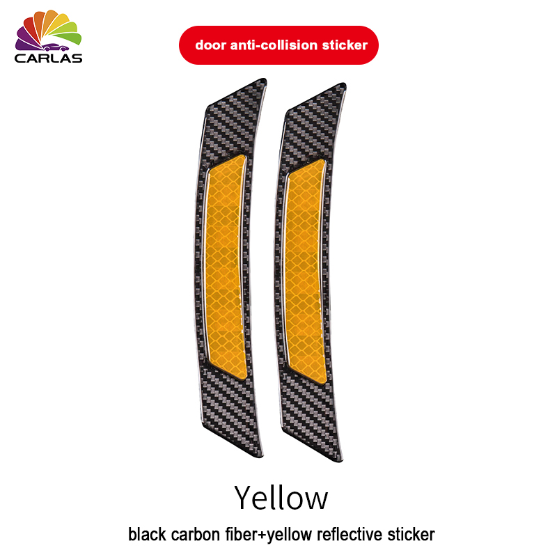 Image 5 - 2 Pieces/Pack Car Door Bumper Sticker Warning Safety Mark Anti Collision Auto Side Anti scratch Strip Car Reflective Strip-in Car Stickers from Automobiles & Motorcycles