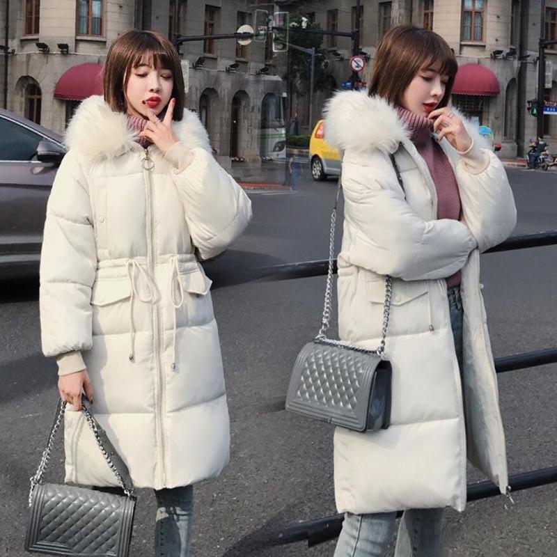 La D'hiver Fourrure Veste De Casaco bleu corail Féminin 2018 Coton Pour Taille Chaud Vêtements Manteau Femmes À gris Rouge Longue Col Mujer Plus Parka Inverno Capuche blanc Noir wI1zqO