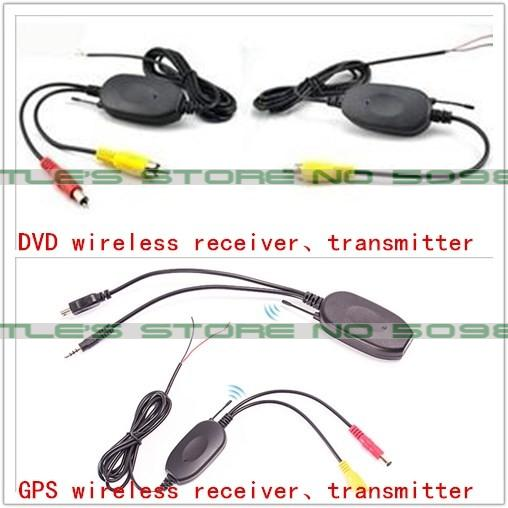 2 4Ghz Wireless Transmitter Receiver for Reverse Camera Video font b Car b font Backup Rearview