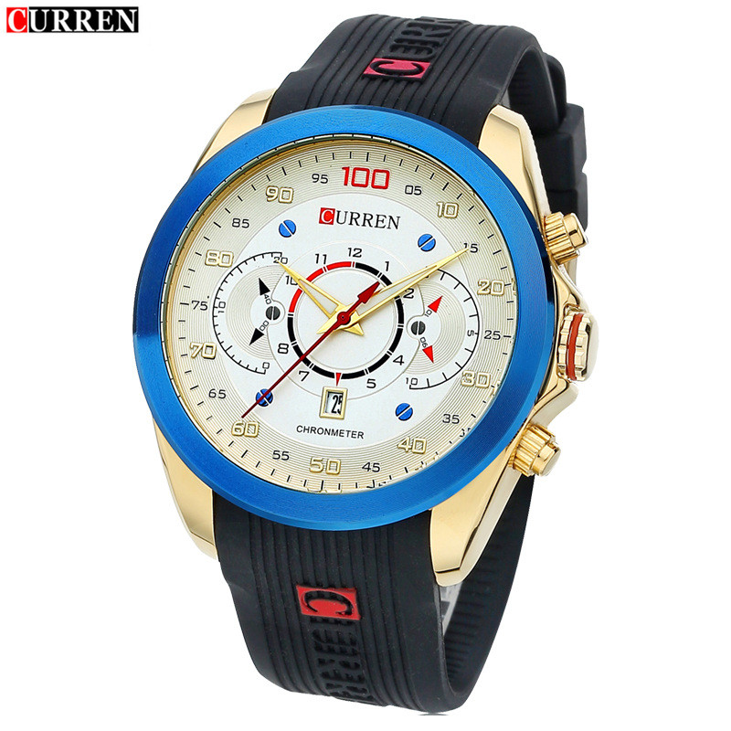 FASHION Waterproof Silicone With Big Dial Watch Students Calendar Watch Simple Neutral Quartz Watch Men Silicone Casual Watch