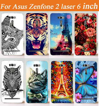 Fashion DIY case Painted lovely cute animals flowers Case For Asus ZenFone 2 Laser ZE601KL 6.0 Inch Cover Case Phone Cases image
