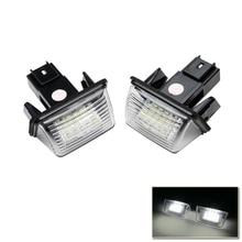 Auto Tail Light Parts License Plate Led Light For Peugeot 407 406 306 307 308 Citroen C3 C4 C5 C6 Number License Plate Light