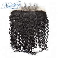New Star Lace Frontal 13x6 Deep Wave Brazilian Virgin Human Hair Natural Color Bleached Knots With