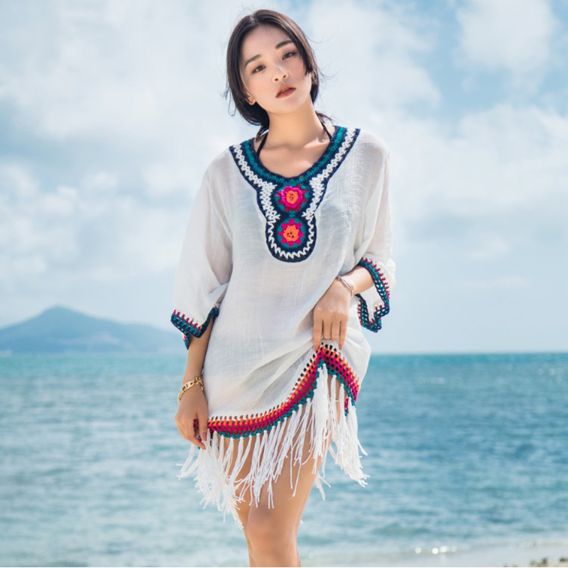 Sarongs For Beach Cover Up Tunics Robe De Plage Women Sarong Summer Dress Bath Mat Sundress 2018 Smock Clothes Plus Size Outside