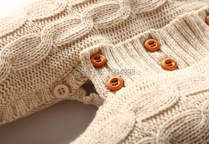 9401a5aa29b Cotton hand knit newborn overalls baby infant velvet climbing suits thick  rompers baby winter snowsuit for girls 12 18 months