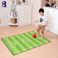 SunnyRain 1 Piece Football Field Rug For Children Room Kids Play Rug Slip Resistant 100x130cm 130x180cm