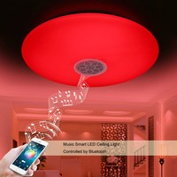 Smart Wireless Remote LED Light 24 W RGB And White Color Ceiling Lamp Built In Bluetooth
