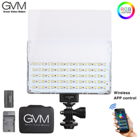 GVM RGB 10S 10W RGB LED On camera Video Light LCD Display CRI 95+ Bicolor APP Control with Battery for Sony Canon Nikon Camera