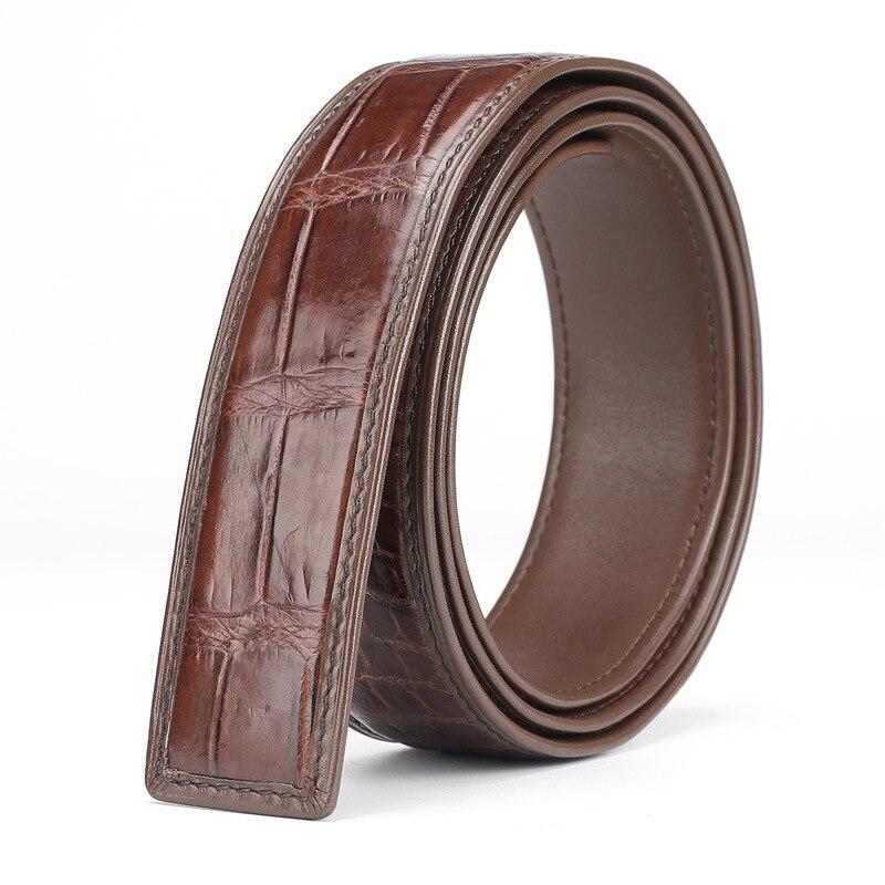 2020 New Fashion 3.4cm Belt High Quality For Men Women Genuine Crocodile Leather Strap  Luxury Crocodilian Free Shipping