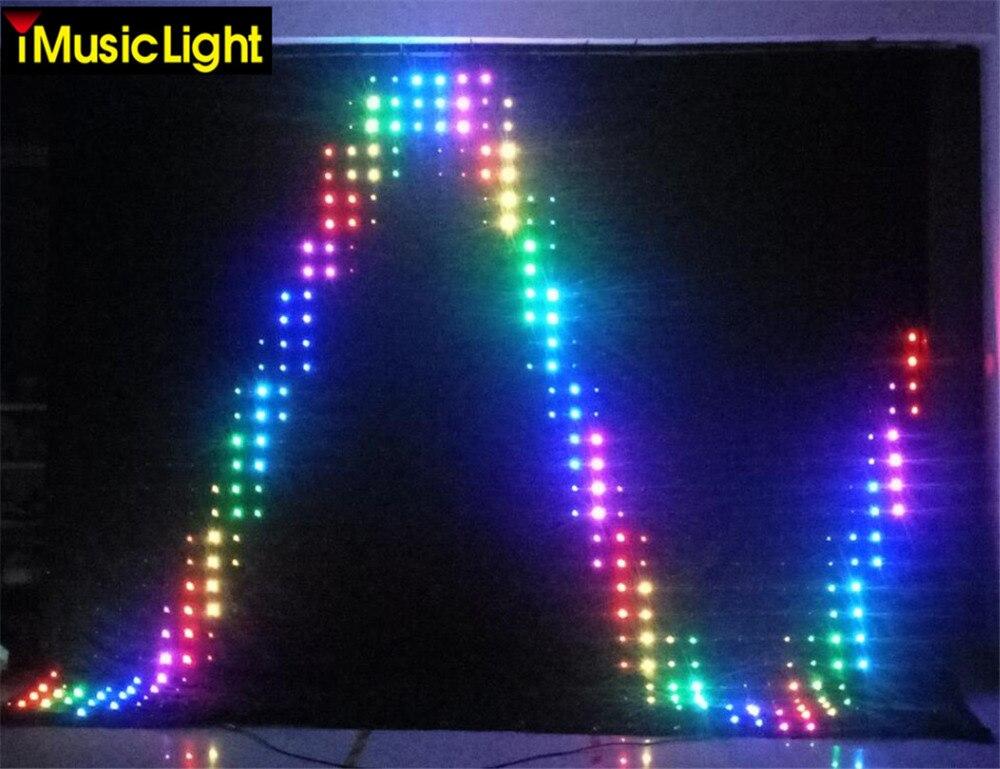 P10 3 mtr x 8 mtr LED rideau vidéo doux LED rideau vidéo DJ Vision tissu rideau d'affichage LED DMX/PC