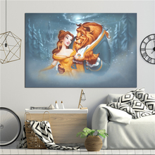 Beauty And The Beast Evening Waltz Wall Art Canvas Posters Prints Painting Wall Pictures For Bedroom Modern Home Decor Framework beauty beast movie wallpaper wall art canvas posters prints oil painting wall pictures for bedroom modern home decor accessories