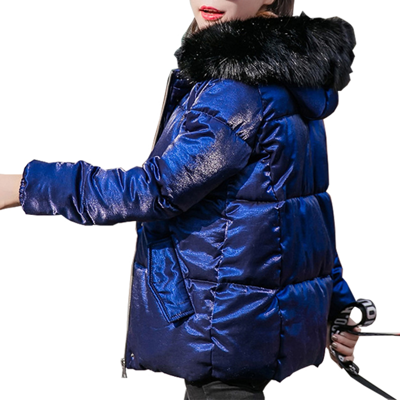 Fur Collar   Parka   Down Cotton Jacket Winter Jacket Women Thick Snow Wear Coat Lady Clothing Female Jackets   Parkas   Plus Size 5XL