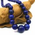 6-14mm Accesorios Azul Marino Lapis Lazuli Torre Collar de Cadena Para Mujeres Niñas Regalos de Navidad Al Por Mayor La Joyería Que Hace 15 pulgadas
