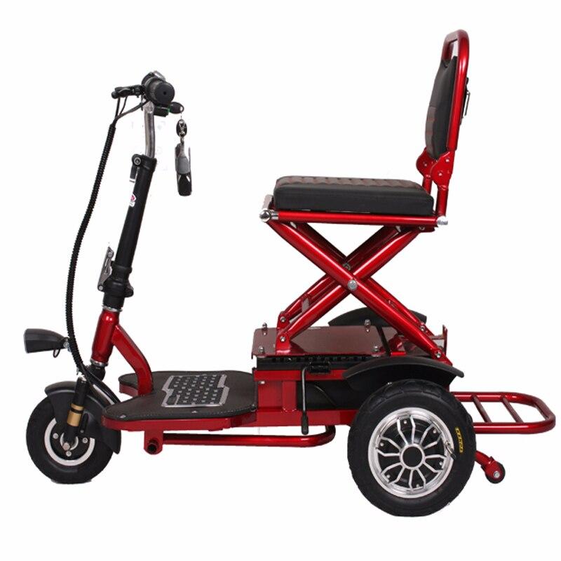 Scooter électrique Trike pliant batterie au Lithium lumière mobilité roue Citycoco moto pour personnes âgées handicapées Tricycle Scooter