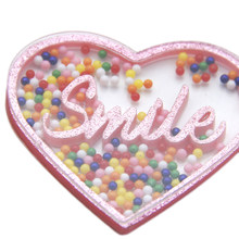 David accessories 1PCS Heart Star Cat Sequins Quicksand Liquid Acrylic For Phone Case DIY Hair Clip Headband Accessories,1Yc6720(China)