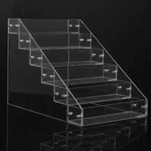 Съемный органайзер для хранения 6 ярусов акриловый прозрачный лак для ногтей Косметический лак Дисплей Подставка держатель Маникюрный Инструмент