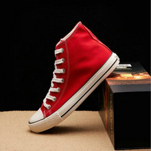 New Arrival Summer Fashion Girl Flats Shoes All Black White red Casual Shoes Women Canvas Shoes Lace-Up high top shoes NN-1414