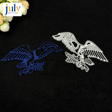 Julyarts Cutting Dies Silver Eagles Embossing Stencil DIY Scrapbook Paper Album for Handwork Creative New Dies julyarts animal cutting dies carbon steel silver diy scrapbook paper album embossing stencil for handwork creative new dies