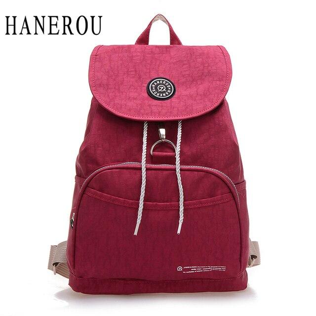 7fcbae7a6747 Preppy Style Women Backpack Waterproof Nylon Backpack 10 Colors Lady Women s  Backpacks Female Casual Travel Bag Mochila Feminina