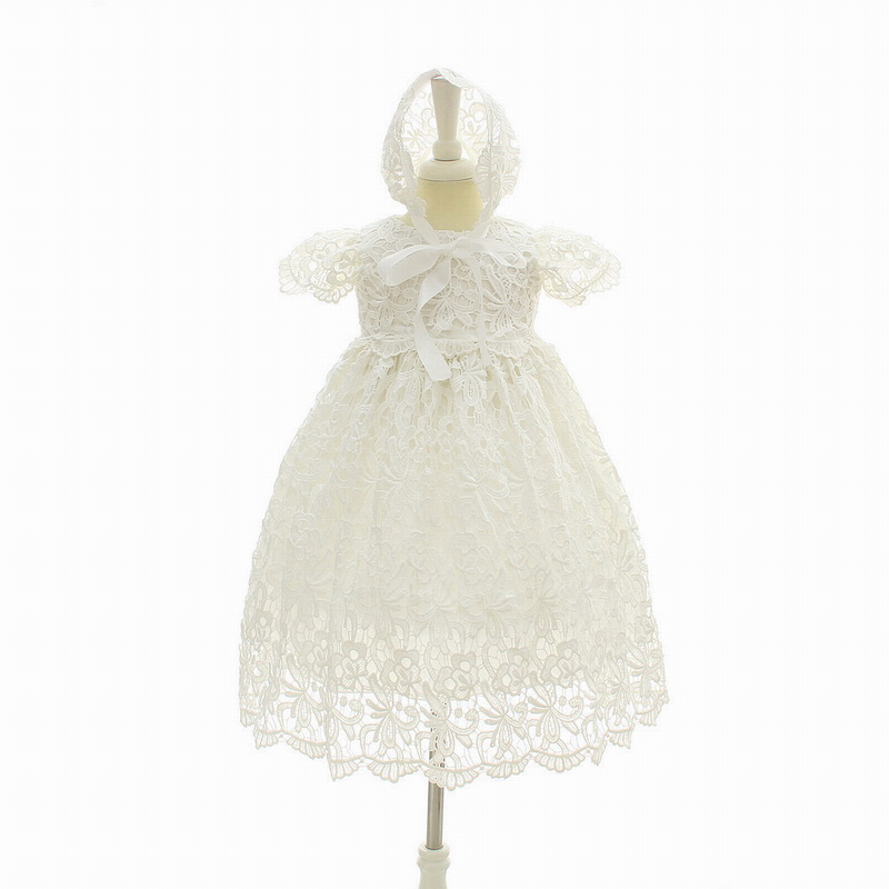 Baby Girl Special Occasion Dress Christening Baptism Gowns Girls Hollow Flower Long Dresses For Infant Clothes 3 6 12 18 24 M(China)