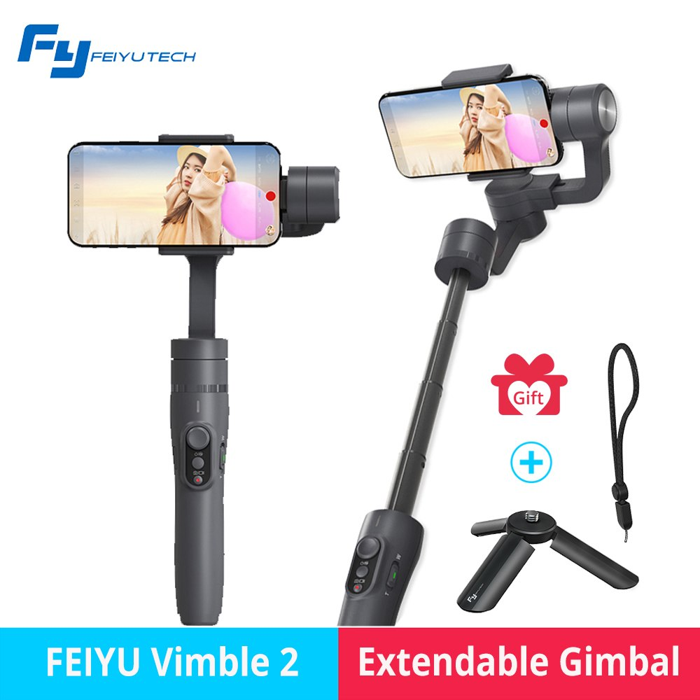 FEIYUTECH Feiyu vimble 2 Gimbal Smartphone 3 Axis Stabilizer with extend rod for iPhone 6 7 8 Gopro action camera HUAWEI Samsung feiyutech feiyu spg gimbal 3 axis splash proof handheld gimbal stabilizer for iphone x 8 7 6 plus smartphone gopro action camera