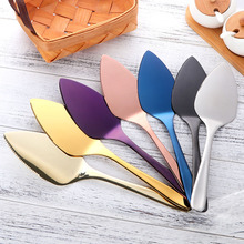 7 Colors Stainless Steel Serrated Edge Cake Tool Blade Cutter Pie Pizza Server Shovel Kitchen Baking Pastry Spatul