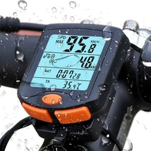 Велосипед велосипеда компьютер Спидометр цифровой одометр секундомер термометр ЖК-дисплей Подсветка непромокаемые Таблица P5