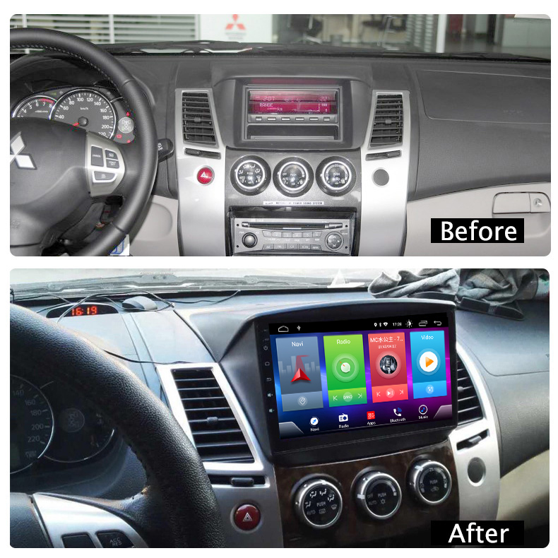 Full Touch Screen Car Android 8.1 Radio Player For MITSUBISHI Pajero Sport  GPS Navigation Video Multimedia Built In Bluetooth|Car Multimedia Player| |  - title=
