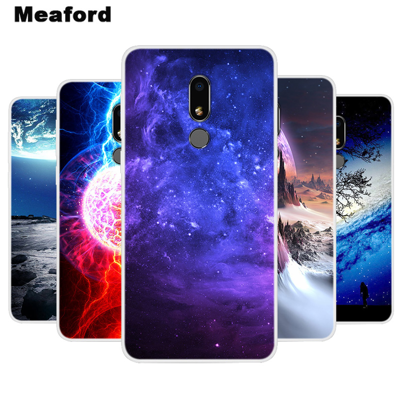 Silicone Case For Meizu M8 Cover M8 Lite Soft Art Star Space Print Back Cover For Meizu M8 Lite 5.7