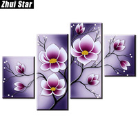Zhui Star 5D DIY Full Square Diamond Painting Tulip Flower Multi Picture Combination Embroidery Cross Stitch