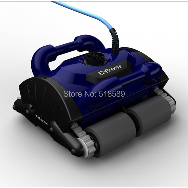 Free Shipping New Model iCleaner-200 with 15m cable Swim Pool Robot Cleaner robot swimming pool cleaner with caddy car