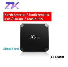 ZKMAGIC IPTV Box X96 mini Android 7.1 Smart TV Box 4K HD 2.4GHz WIFI Lifetime Free Europe Arabic Channels