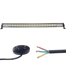 weketory 7D 25LED DRL 52 inch 500W LED Work Light Bar for Tractor OffRoad 4WD 4×4 Truck SUV ATV Spot Flood Combo Beam 12V 24v