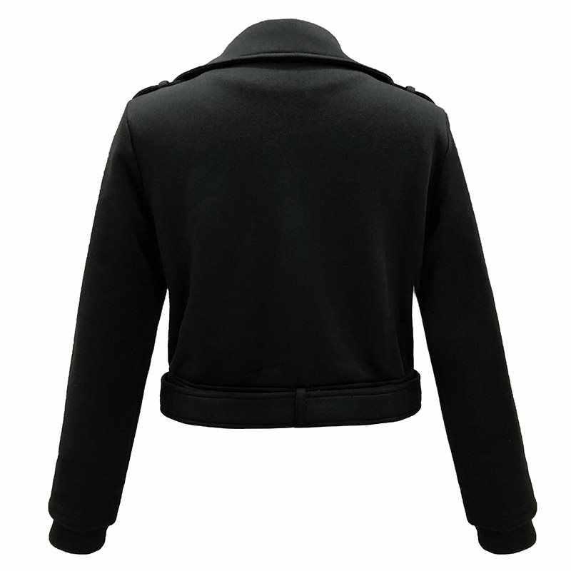 秋 2019 ゴシック暖かいハイストリートカジュアル女性ジャケットカジュアル白スリム無地ジッパープラスサイズオーバーコート女性オーバー