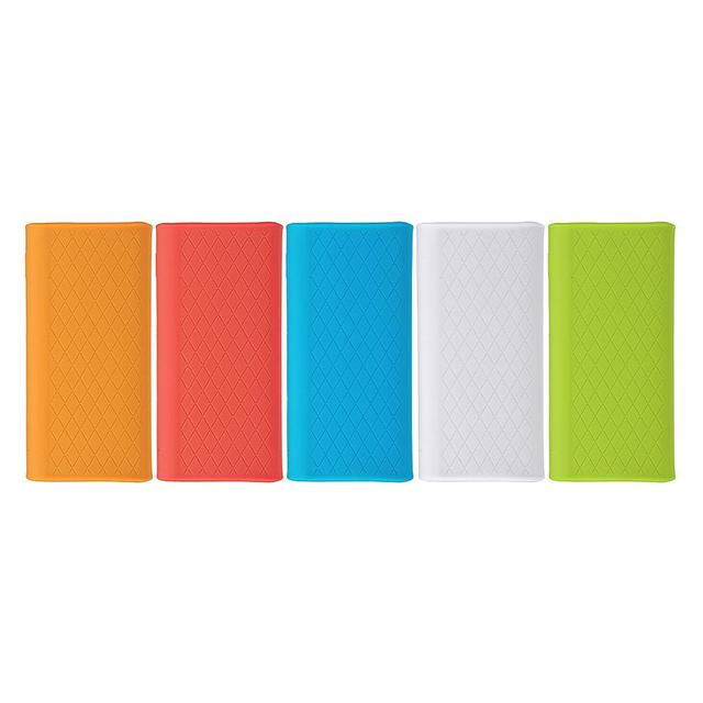 Silicone Protector Case Cover Skin Shell for Xiaomi Xiao Mi 20000mAh Power Bank 3 PLM07ZM Powerbank 3 Pro Accessories 2
