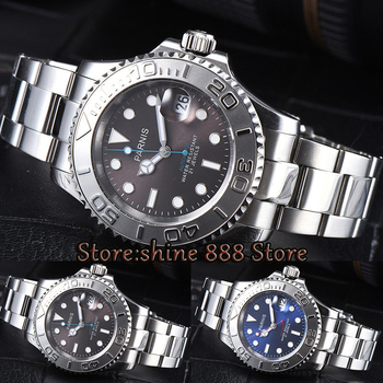 41mm Parnis gray blue dial ( Two kinds of dial color selection ) Ceramic bezel 21 jewels miyota 8215 automatic mens watch