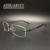 Hombres gafas gafas sin montura marco óptico titanium de la aleación marca prescription luz de negocios hermoso especial 5200