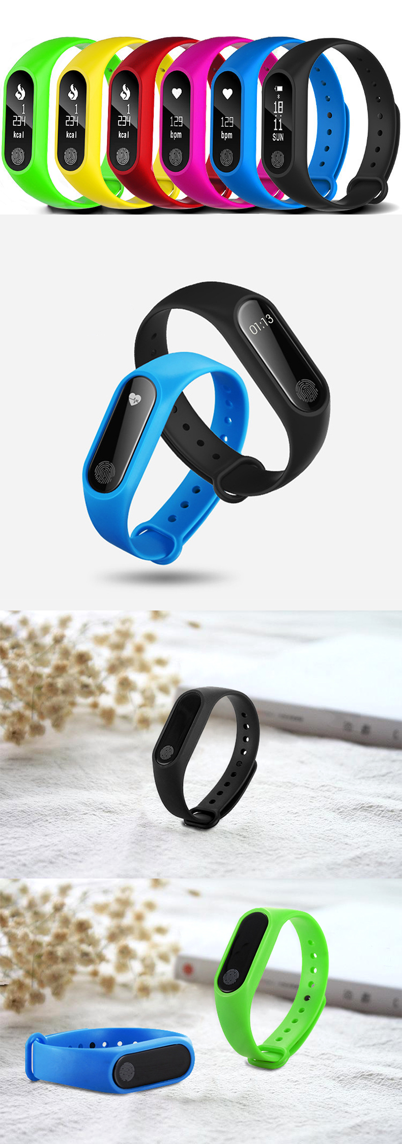 HTB1UVAce.GF3KVjSZFmq6zqPXXaI M2 Sport Bracelet Smart Band Heart Rate Watch Men Women Smartwatch For Android IOS Fitness Tracker Electronics Smart Clock