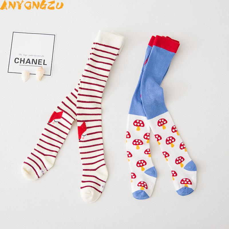 dfa574dc8 Cotton Knitting Baby Tights Girls Boys Cartoon Tights Toddler Stockings  Pantyhose Children Clothes Antiskid mushroom design 2pcs-in Tights    Stockings from ...