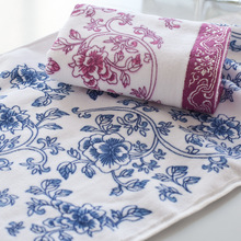 34 x75cm pattern of blue and white porcelain 100g 100% cotton towel Family Towels bathroom wholesale