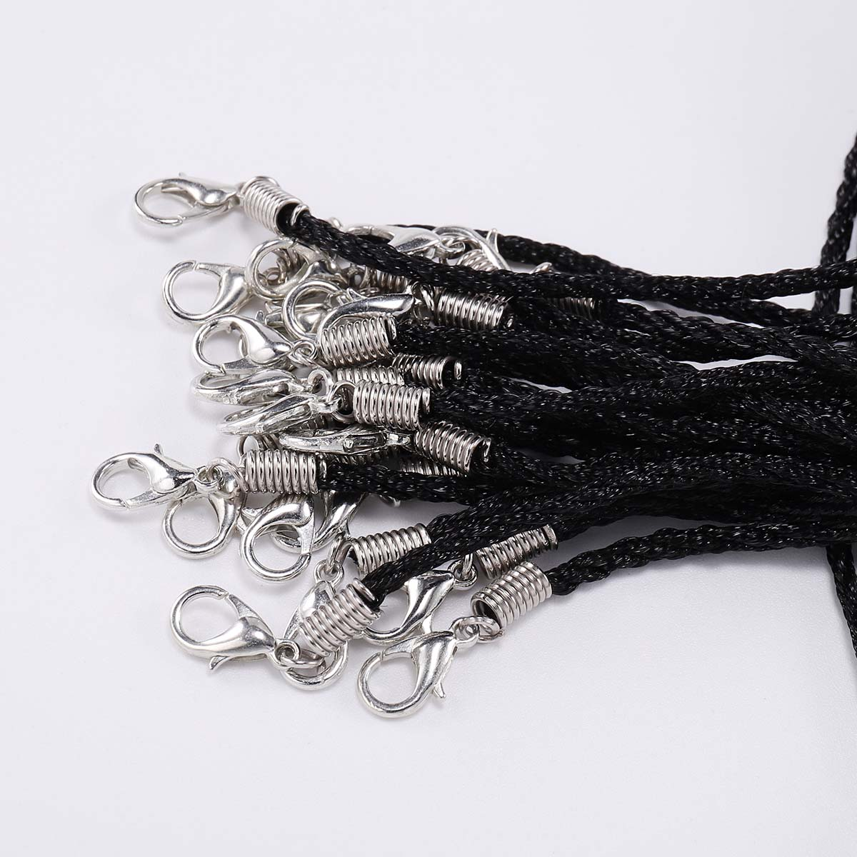 10 Pcs lot Dia 1 8mm Handmade Adjustable Braided Rope Nylon cord Necklace For Pendant Charms Findings Lobster Clasp String Cord in Jewelry Findings Components from Jewelry Accessories