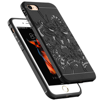Ultra Thin Dragon Pattern TPU Gel Case For IPHONE 7 Shockproof Blade Design Soft Back Cover