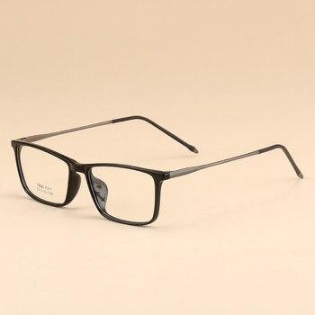 811c10ac32 Los hombres de negocios óptica gafas TR90 miopía receta claro lente óptica  simple espejo 2019 de Marcos decorativos