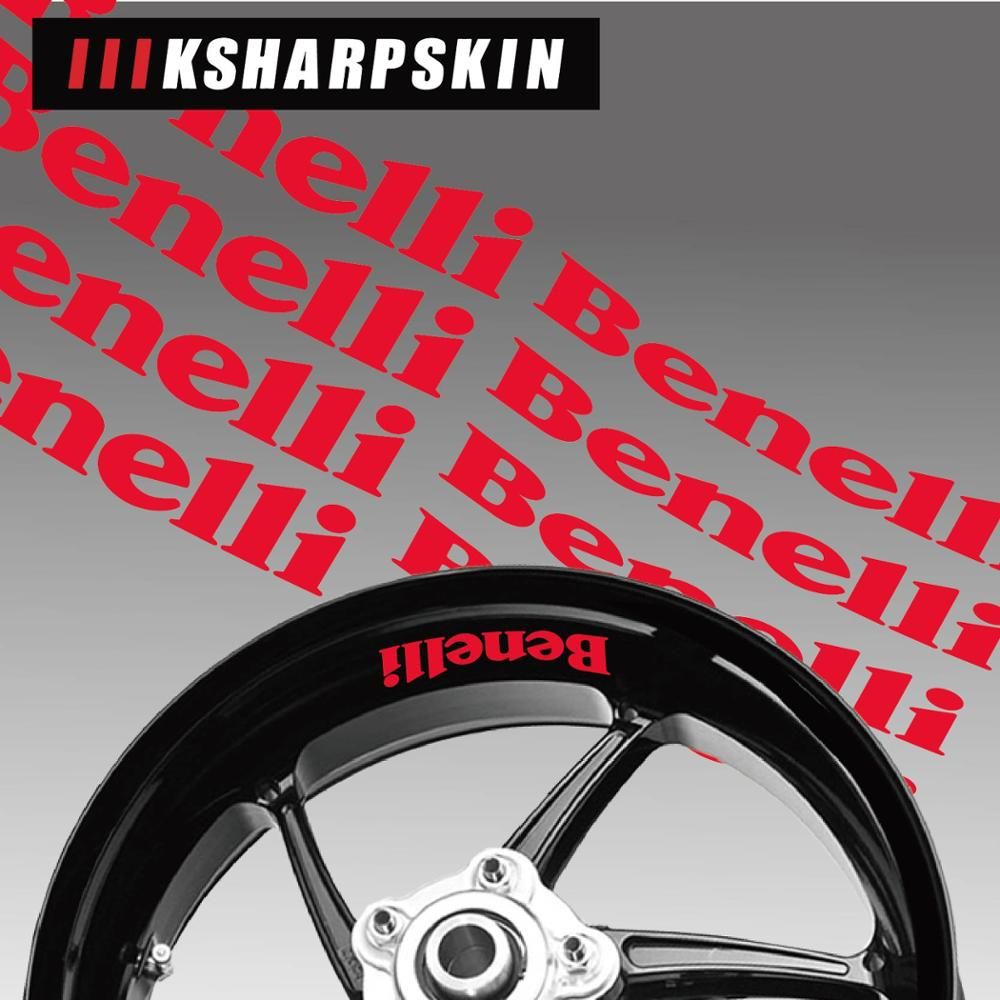 New sale Motorcycle wheel reflective decorative rim interior side decals For <font><b>Benelli</b></font> Logo <font><b>stickers</b></font> <font><b>trk</b></font> 502 image
