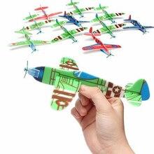 30Pcs DIY Flying Glider Planes Aeroplane Educational Kids Outdoor Fun Sports Toy Game