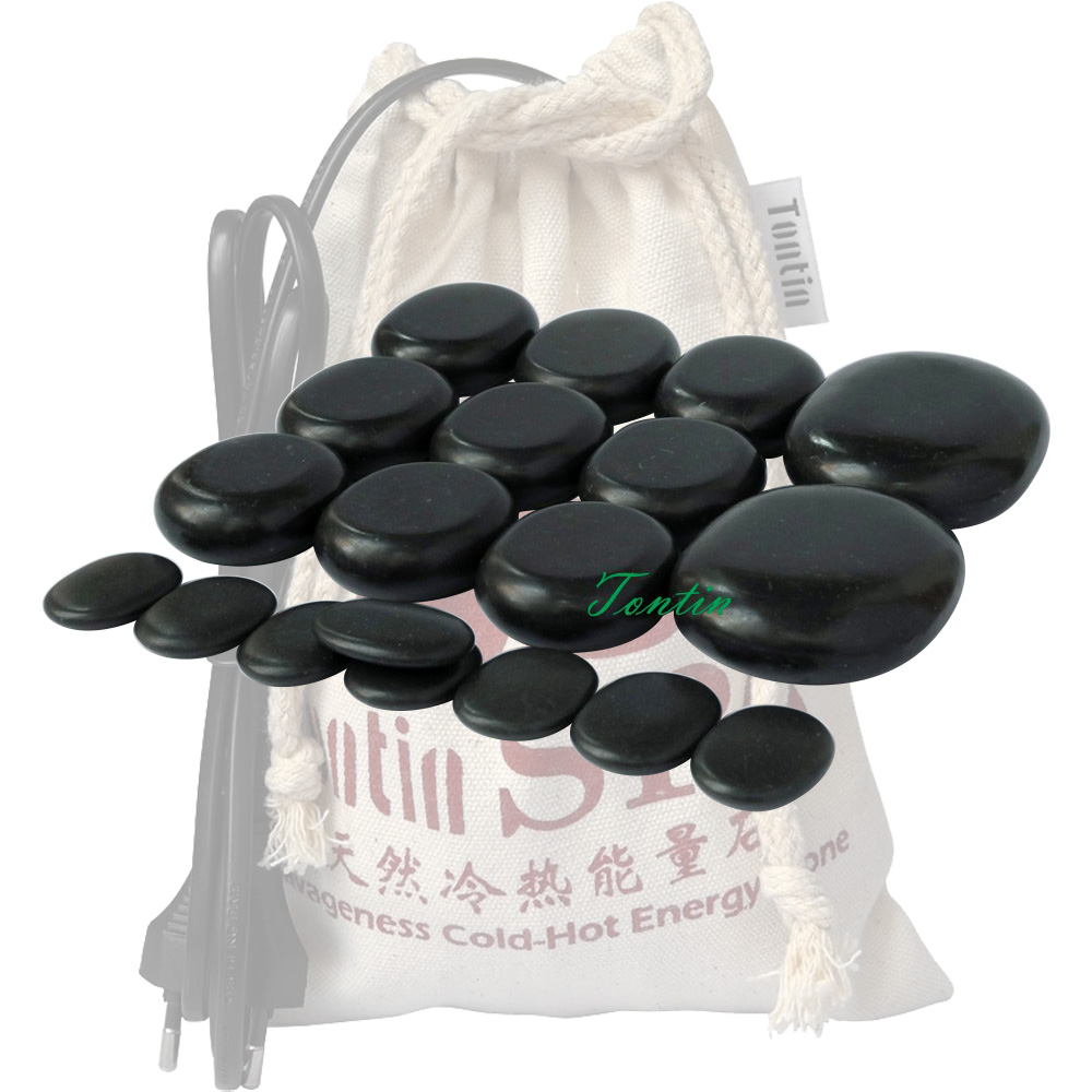 New! TONTIN Hot Massage Energy Body Stone set Salon SPA with Thick Canvas 220V and 110V Heating Bag CE and ROHS 19 pcs per set New! TONTIN Hot Massage Energy Body Stone set Salon SPA with Thick Canvas 220V and 110V Heating Bag CE and ROHS 19 pcs per set