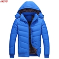 HGYS 2017 men pure color cotton thickening big yards leisure loose cotton-padded jacket in winter